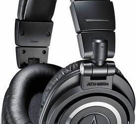 Audio Technica ATH-M50x- Professional Headphones- Black-  NEW